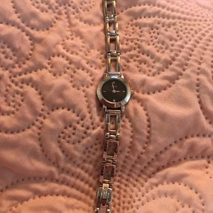 Guess ladies watch- Silver w/ black face